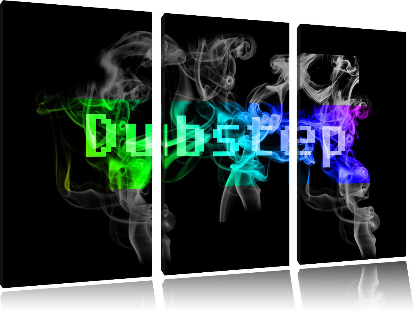 Bunt Electro music Dubstep   3-Teiler Leinwandbild Wanddeko Kunstdruck