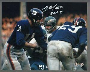 Y-A-Tittle-Signed-Auto-Color-Giants-8x10-Photo-W-HOF-71-SCH-Auth-27697-60