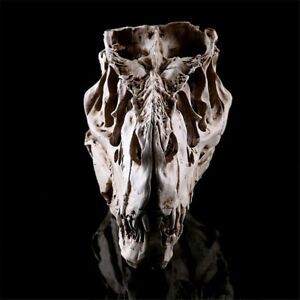 Harz-Handwerk-DinosaurierZahn-Schaedel-Fossil-Lehre-Skelett-Modell-HalloweenD-ZV
