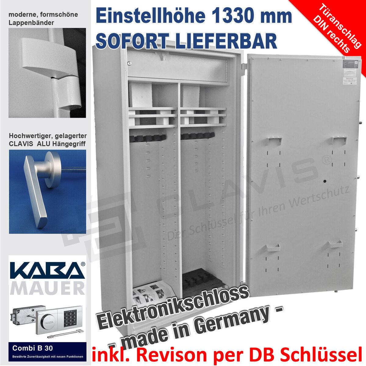 Waffenschrank Kombi-1600 KABA MAUER B 30 Elektronik Revision Klasse I EN 1143-1