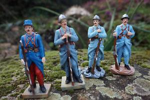 Re0226 B 4 Figurine Soldat Poilu 1918 Fantassin14 18 Guerre Mondiale 4 Sur 4 AgréAble En ArrièRe-GoûT
