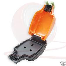 IPS 13A Weatherproof In-Line Socket IP54. Orange Outdoor 1-Gang, 13Amp Trailing.