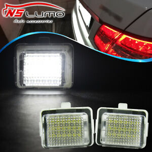 2X-Canbus-LED-Number-License-Plate-Lights-For-Mercedes-Benz-W204-W212-W221-White