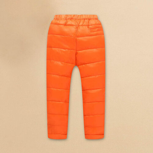 Kids Girls Boys Puffer Down Pants Winter Outdoor Trousers Thicken Elastic Bottom