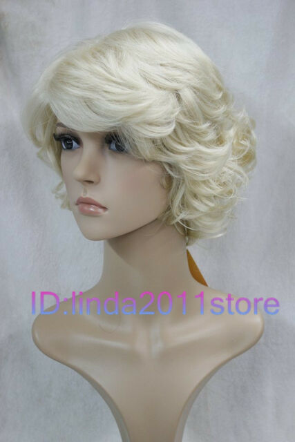Vogue women's fads Light blonde lady's short full wigs / wig cap