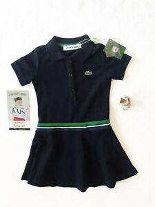 Robe Lacoste Fille 2 12ans 100 Coton Bleue Dress Lacoste Girls White 2 12yo Ebay