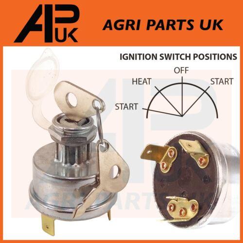 Ignition Switch Massey Ferguson 35 135 Case IH 444 B275 B414 MF 3 Terminal Heat