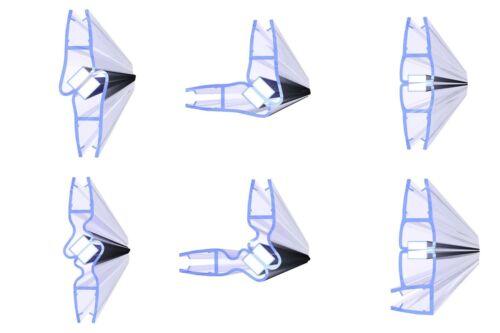 10 mm 8 Duschdichtung Duschtürdichtung Typ: VA001-10 2 Stück Glasstärke: 4 6