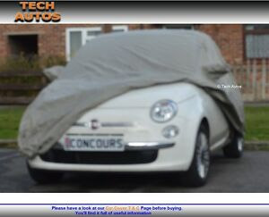 Fiat 500 New (Not Abarth) Car Cover Outdoor Waterproof Padded ...