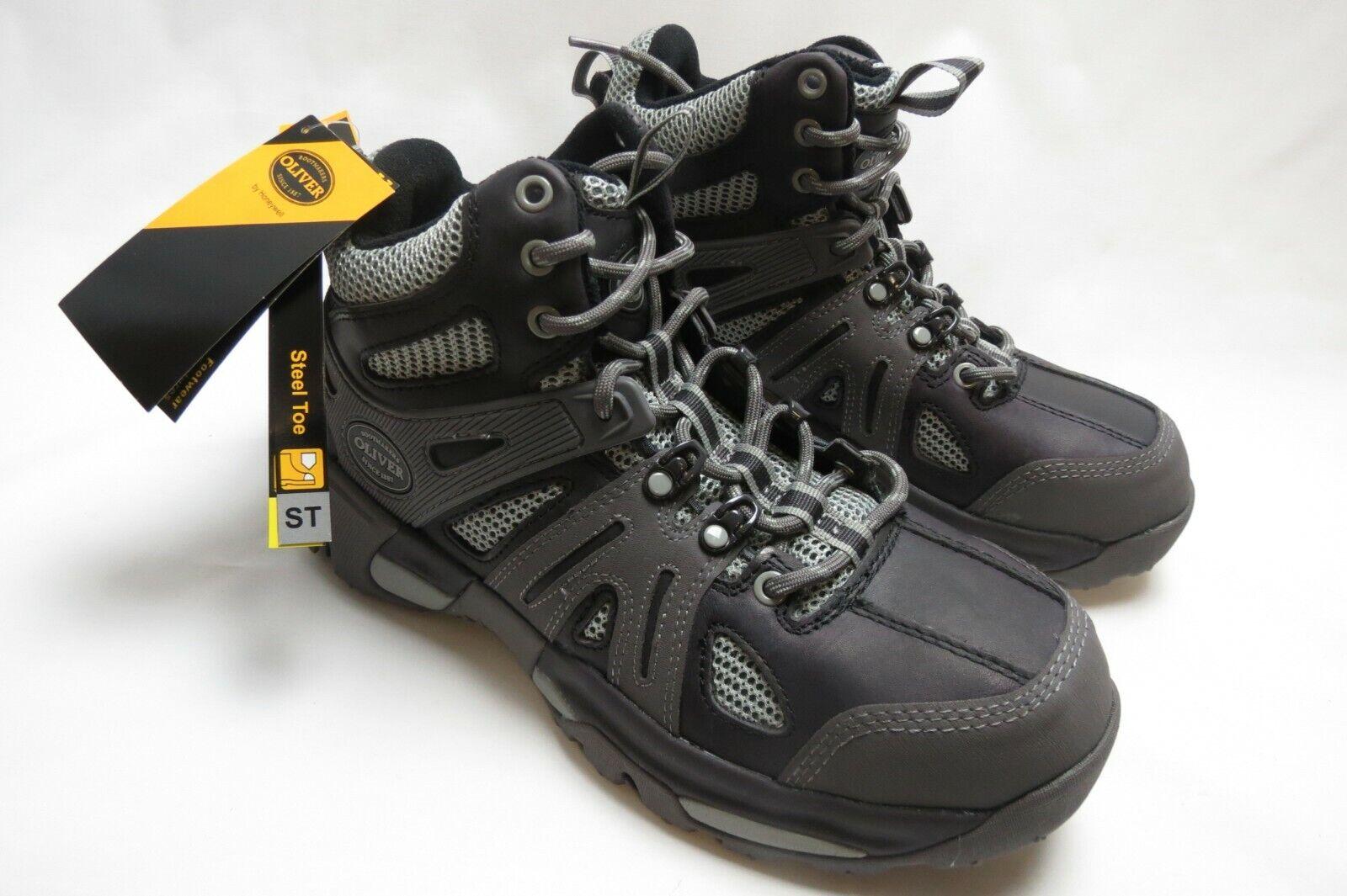 OliVER Para hombre Mid industrial excursionista Puntera De Acero Trabajo botas Zapato Nuevo