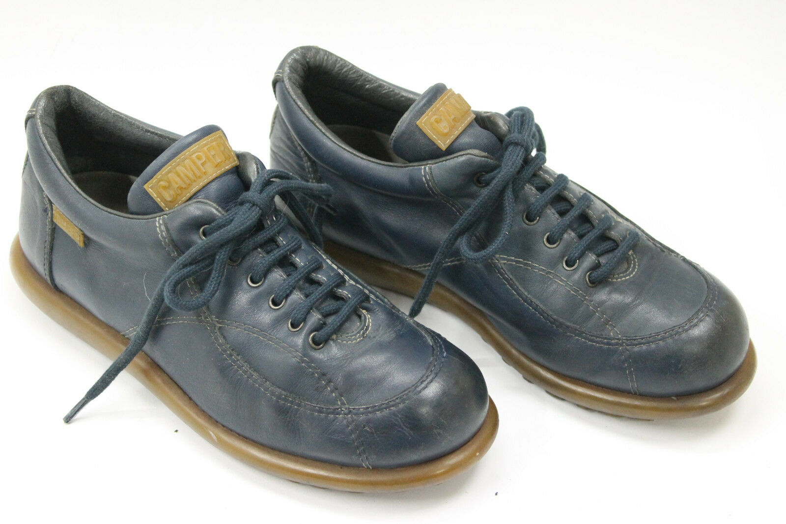 Camper mujer zapatos talla talla talla 6.5 Europa 37 De Cuero Azul S7433  mejor opcion