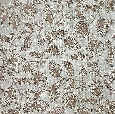 Wallpaper Textured Beige Scandinavian Modern Floral Leaf Wall Coverings Rolls 3d Ebay