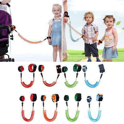 2PCS Set Safety Anti-lost Toddler Kid Baby Link Harness Child WristBand Leash UK