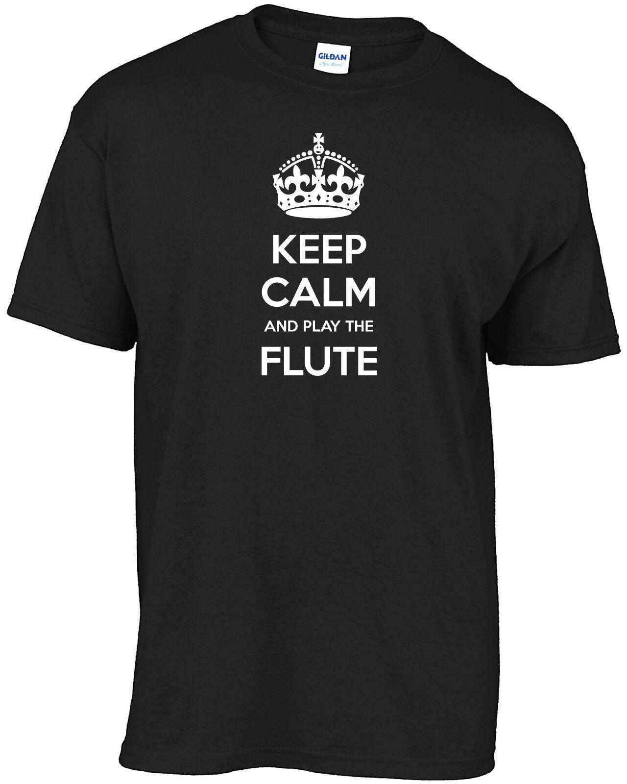 7 Keep Calm et flûte jouer de la flûte et T-shirt 582174