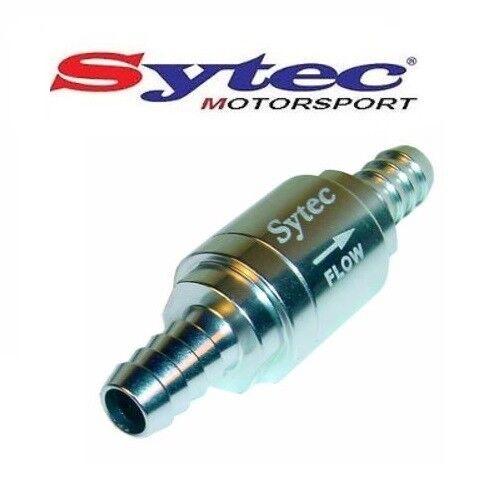 8mm PUSH ON HOSE SYTEC MOTORSPORT ONE WAY FUEL VALVE CHECK NON RETURN SILVER