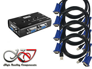 KVM-Switch-Manual-4-Ports-USB-VGA-with-Cables