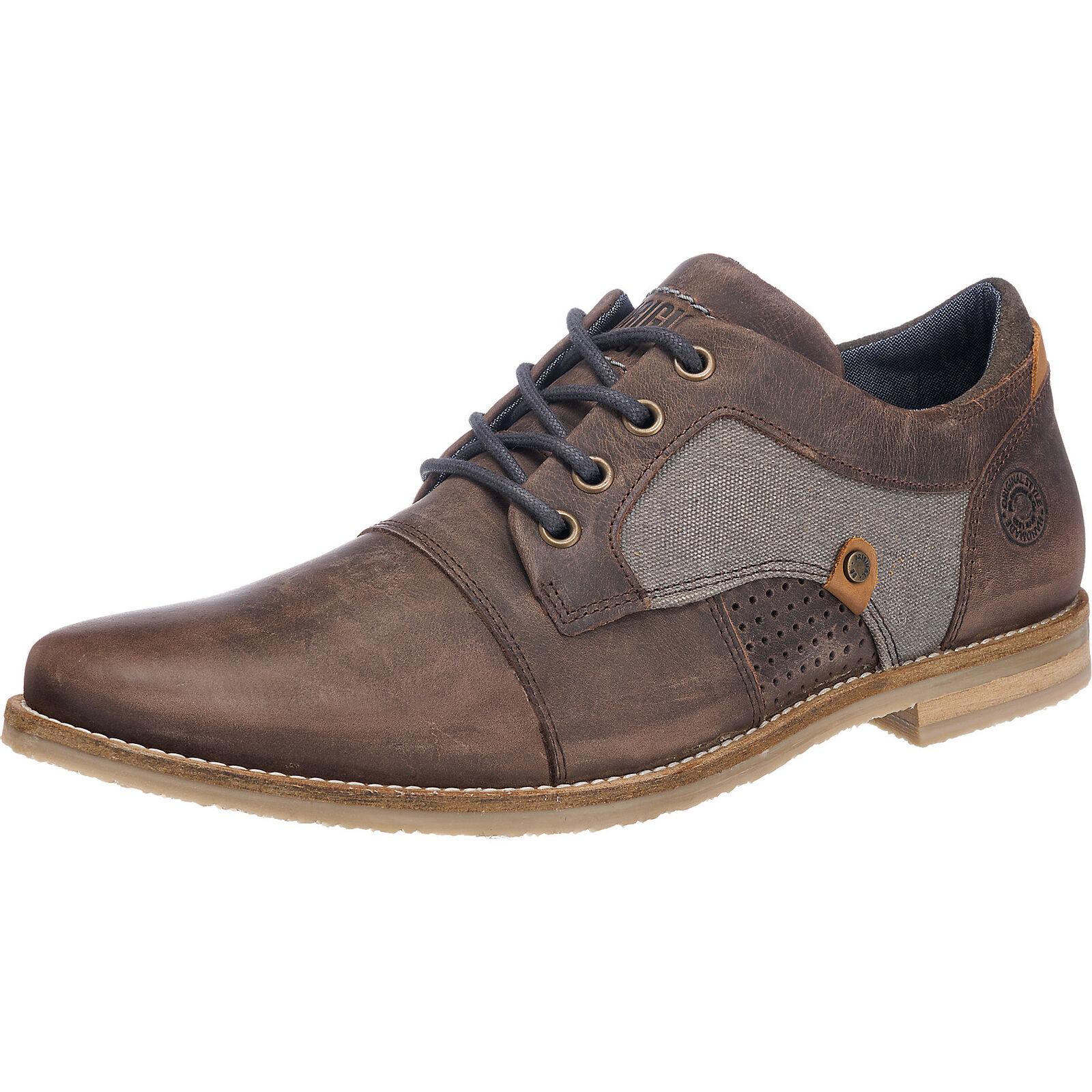 Neu BULLBOXER Freizeit Schuhe braun dunkelblau dunkelbraun 5768561