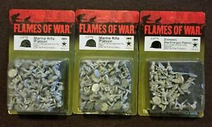 Flames of War American – US772 Marine Rifle Platoon X2; US773 Machine Gun Plat.
