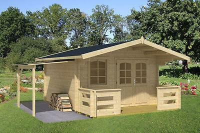 ca. 380x320 cm Gartenhaus 34mm + Terrasse + Schleppdach Gerätehaus Holz NEU  | eBay
