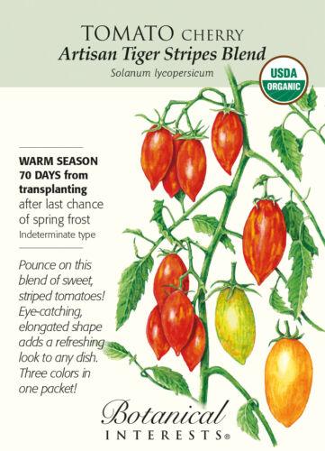 15 Seeds Organic Artisan Tiger Stripes Blend Cherry Tomato