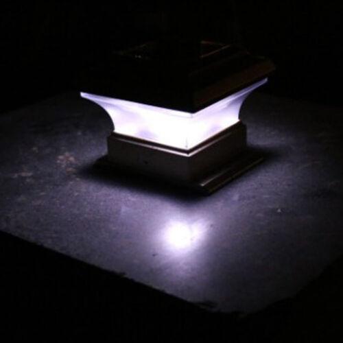 "6//8pcs Solar LED Post Deck Cap Square Fence Light 4/""x4/"" Outdoor Garden Lamp USA"