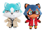 Anime-BNA-Kagemori-Michiru-Ogami-Shirou-Plush-Doll-Cute-Stuffed-Toys-Cosplay miniature 4