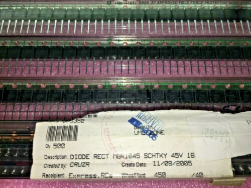 ON SEMI B1645 DIODE SCHOTTKY 45V 16A TO220AC 1645 50 PIECE LOT MBR1645