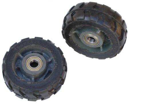 2x 500kg Schwerlastrollen Transportrollen Ø150mm massive Stahlfelgen 0,5to 00225