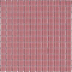 Details About Modern Uniform Squares Red Glass Mosaic Tile Backsplash  Kitchen Wall MTO0370