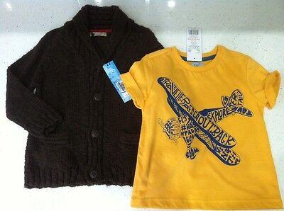 100% Vero Cardigan Maglione Bnwts Ragazzi T Shirt Top M & S F&f 2-3 Anni Di Qualità Outfit Set-mostra Il Titolo Originale