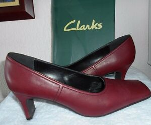 Clarks 5 Shoes Lovely Of Burgundy In 5 Mary Jane Size Pair Vgc Leather 6T1Twq0n