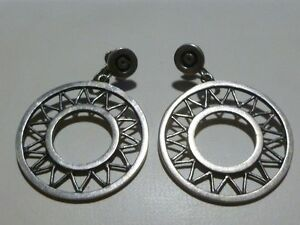#144 R TAXCO MEXICO STERLING SILVER STERLING SILVER MODERN EARRINGS ANTIQUE