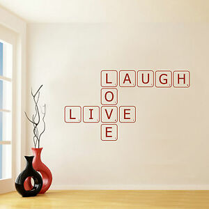 Image Is Loading SCRABBLE LETTERS TILES WALL STICKER ART TRANSFER DECAL  Part 87