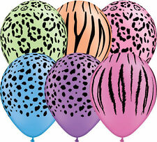 Safari Adventure Neon 5 Lattice Palloncini Qualatex Animal Print ELIO ARIA