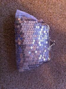 Brand-New-Grace-Adele-Elegant-Coin-Purselet-Sequins-Silver-Clip-On
