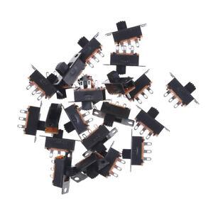 Black-20pcs-5V-0-3A-SS12F32-Mini-SPDT-Slide-Switch-for-Small-DIY-Power-AD-HCUK