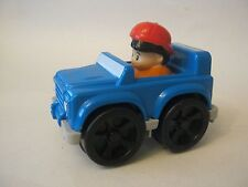 Fisher Price Blue Little People Wheelies Jeep (012-4)