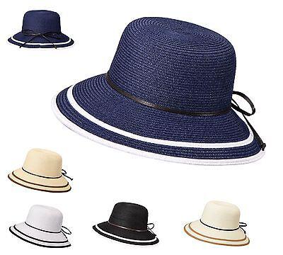 Miuno® Damen Strohhut Sonnenhut Sommer Hut mit Schleife H51010
