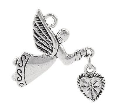 Großverkauf Charms Anhänger Kettenanhänger Engelsflügel für Halskette 6.9x4.7cm