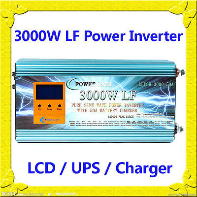 Ambitious 3000w Lf Split Phase Psw 12v Dc/110v,220v Ac 60hz Power Inverter Lcd/ups/charger Long Performance Life Chargers & Inverters Electrical & Solar