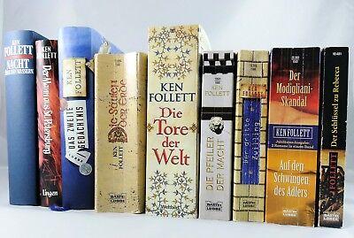 10 X Ken Follett Spionage Follet GroßEr Ausverkauf Im Bücherpaket Historische Romane