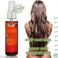 FAST HAIR GROWTH GINSENG TONIC Hair Loss Treatment Promote Regrowth LONG HAIR