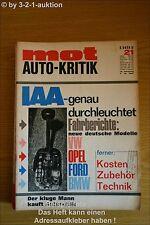 MOT 21/67 Ford Glas 1304 + 1700 NSU 1200 TT Opel