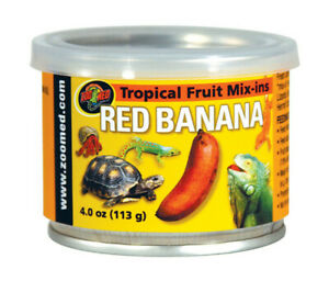 (3 Pack) Zoo Med Tropical Fruit Mix-ins Red Banana Reptile Food, 3.4-Ounce