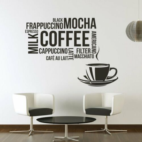 cofe cup coffee beans decal vinyl sticker