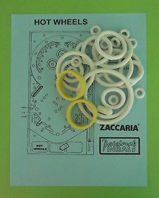 1979 Zaccaria Hot Wheels Pinball Machine Rubber Ring Kit