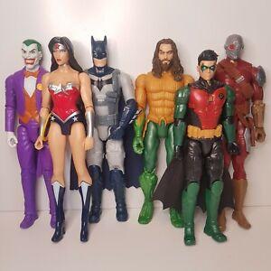 Mattel-DC-Comics-12-034-Figures-Batman-Robin-Joker-Deadshot-Aquaman-Wonder-Woman