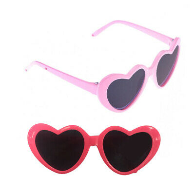 Cute 18inch Doll Heart Frame Glasses Sunglasses for AG American Doll Dolls Toy
