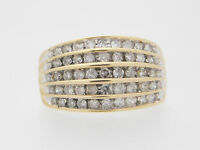 1.00 CARAT T.W. LADIES ROUND CUT DIAMOND BAND 10K YELLOW GOLD #34628