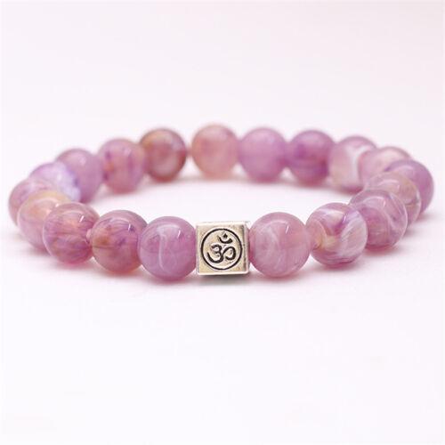 1PC Yoga Lava Chakra Perle Bracelet Simulations Élastiques Stein Wrap Bracelet